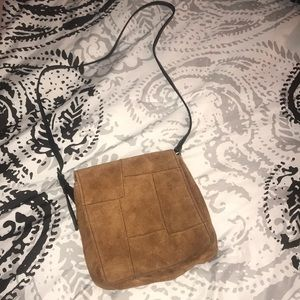 Wilson's leather suede satchel